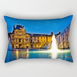 Palais du Louvre II Rectangular Pillow