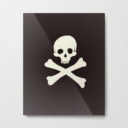 Skull & Crossbones Metal Print