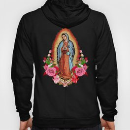 Our Lady of Guadalupe with roses Hoody