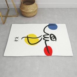 The Juggler of Life Minimal Art Design Rug