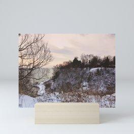 Scarborough Bluffs in Winter on December 27th, 2020. VI Mini Art Print