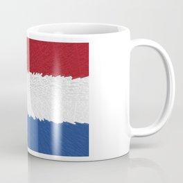 Extruded flag of the Netherlands Coffee Mug