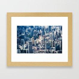 City Tilt Shift Framed Art Print