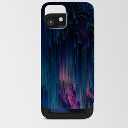Glitchy Night - Abstract Pixel Art iPhone Card Case