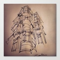 building Canvas Prints featuring BUILDING by cegraph