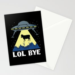 Aliens Cow Lol Science Fiction Stationery Cards