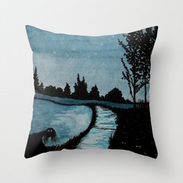 Night Creepers Throw Pillow