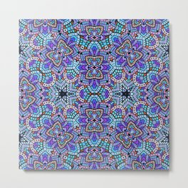 Persian kaleidoscopic Mosaic G509 Metal Print