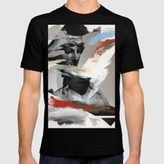 Untitled (Painted Composition 4) Mens Fitted Tee Black MEDIUM