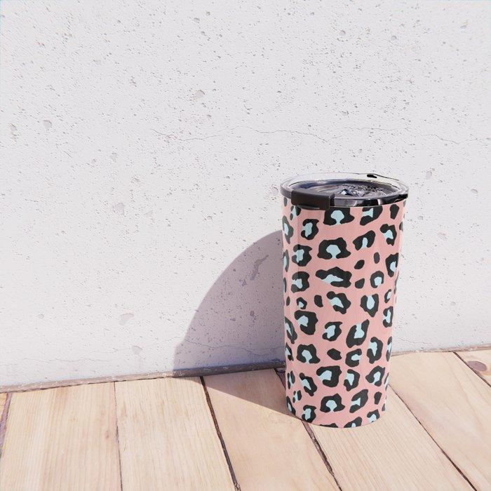 Leopard Print - Icy Peach Travel Mug