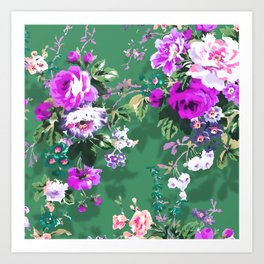 Bouquets with roses 5 Art Print