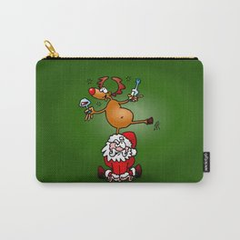 Reindeer is having a drink on Santa Claus Carry-All Pouch