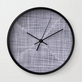 Ink Weaves: White Quartz Wall Clock