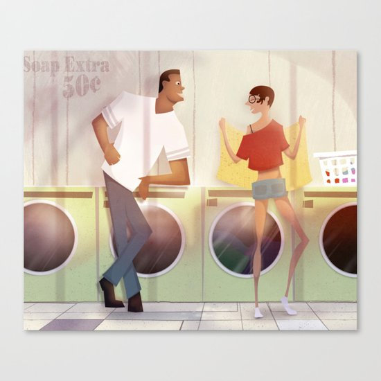 laundry and love Canvas Print