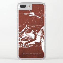 2010 Moto Guzzi Stelvio 1200 4V red blueprint Clear iPhone Case