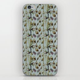Dead Rose & Snapdragon Pattern iPhone Skin