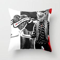 I ❤ NIGHT OWLS Throw Pillow