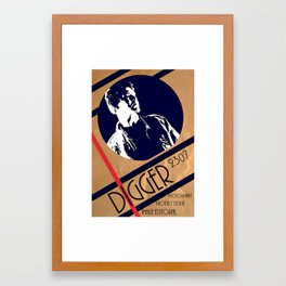 Digger crumble poster Framed Art Print