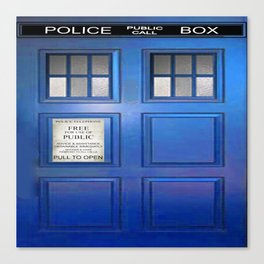 doctor who public box  Canvas Print