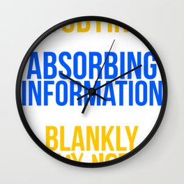 Student Gift Studying Absorbing Information or Staring Blankly at Notes Wall Clock