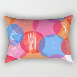Bauhaus Bubbles Rectangular Pillow