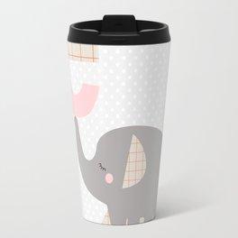 letter E - elephant - initial, personalized gift Travel Mug