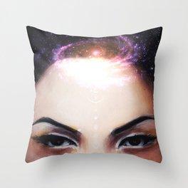 I Need My Space // Stars Galaxy Woman Girl Consciousness Awakening Soul Chakra Energy Healing Throw Pillow