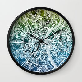 Cologne Germany City Map Wall Clock