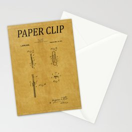 Paper Clip Patent 1 Stationery Cards