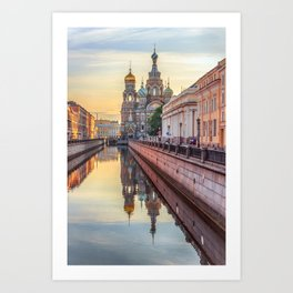 Church of the Savior on Blood, Saint Petersburg, Russia Art Print