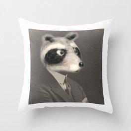 Mr. Racoon Throw Pillow