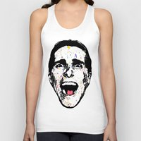 american psycho Tank Tops featuring American Psycho by CultureCloth