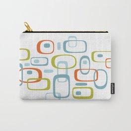 1950s Retro Organic Pattern Carry-All Pouch