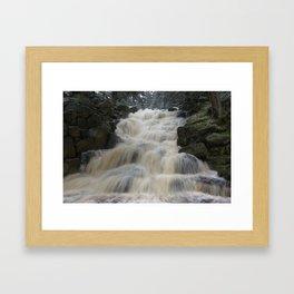 Waterfull in Winter Framed Art Print