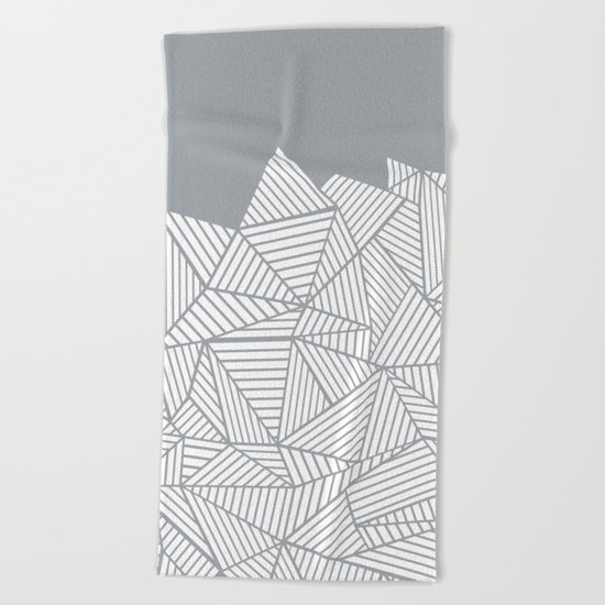 Abstract Mountain Grey Beach Towel