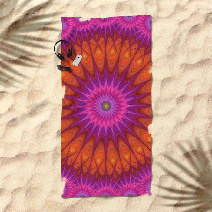 Hell mandala Beach Towel