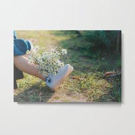 Daisy flower,, Asteraceae flower,  daisy hill, Photography, Metal Print