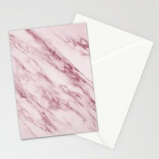 Marble Pattern - Swirled Raspberry Pink Marble Stationery Cards