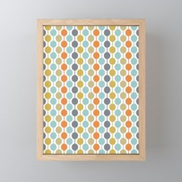 Retro Circles Mid Century Modern Background Framed Mini Art Print