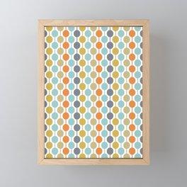 Retro Circles Mid Century Modern Background Framed Mini Art Print