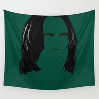 snape Wall Tapestries featuring Snape and you by Ally Simmons