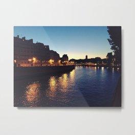 Bridges of Paris by Night Metal Print