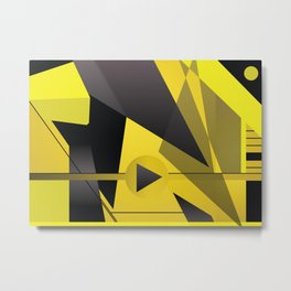 Coloured thick straight lines abstract art Metal Print