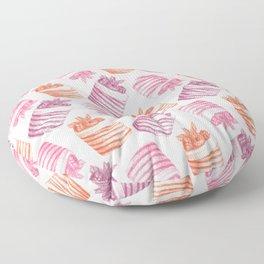 sweet cute cakes Floor Pillow