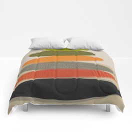 Mid-Century Modern Ovals Abstract Comforters
