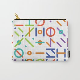 Geometric Colorful Art Pattern Carry-All Pouch