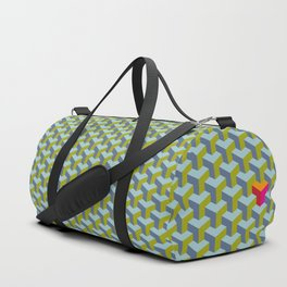 Be yourself - geomtric op art pattern Duffle Bag