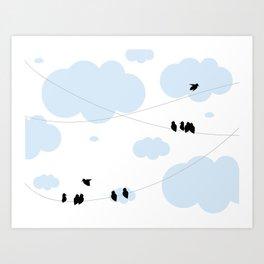 Hanging Around Art Print
