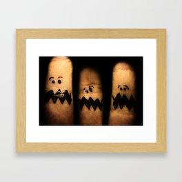 Scared Fingers Framed Art Print