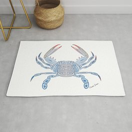 Tribal Blue Crab Rug